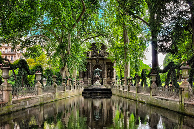 Fontana del giardino del Lussemburgo a Parigi