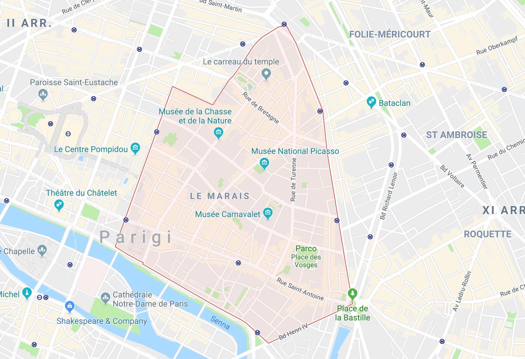Profilo dell'area del Marais