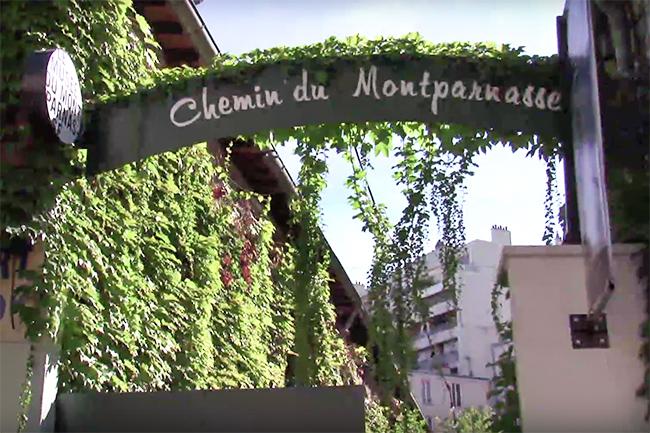Una de las calles más famosas de Montparnasse