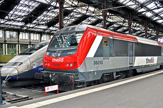 Una de las líneas RER de París