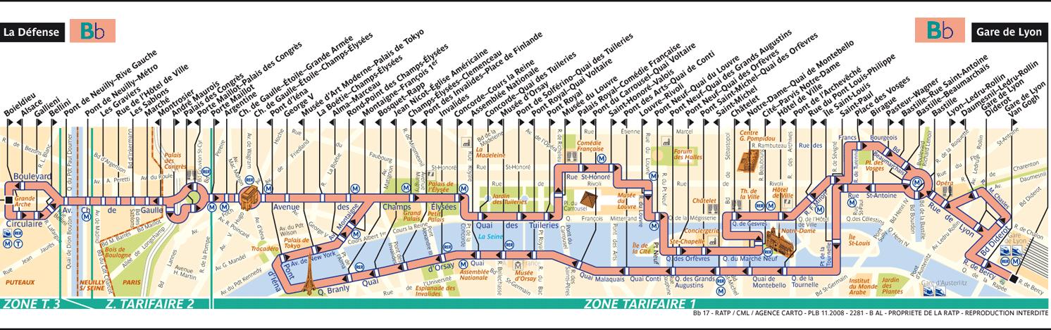 Mappa del Balabus di Parigi