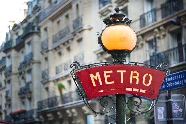 Parada de metro de París